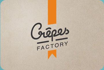 Création de l'identité visuelle de l'enseigne Crêpes Factory