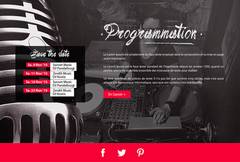Illustration Projet de site internet pour un Bar/Resto en Suisse