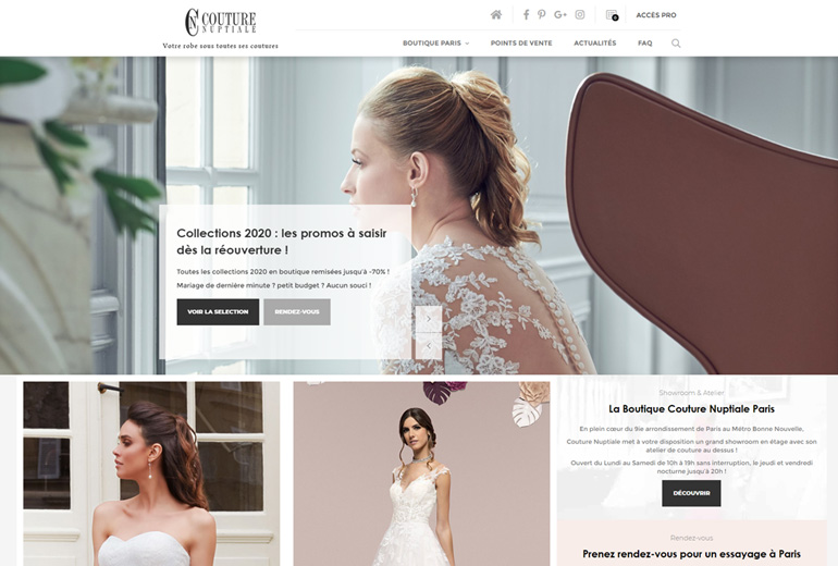 Illustration Couture Nuptiale refond son site Catalogue